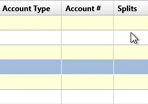 Working with transactions Step 13: splits